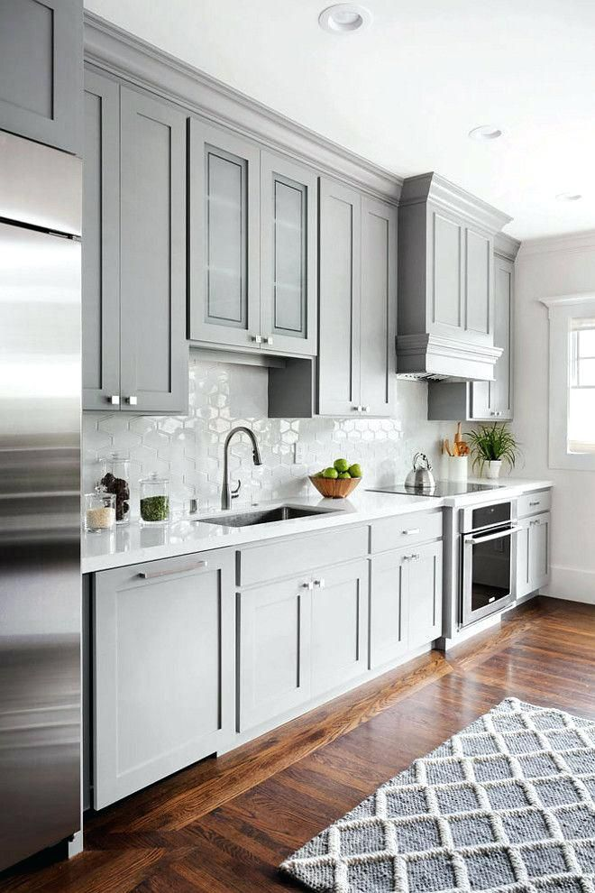 Grey Kitchen Cabinets With Quartz Countertops Grey Kitchen Cabinets