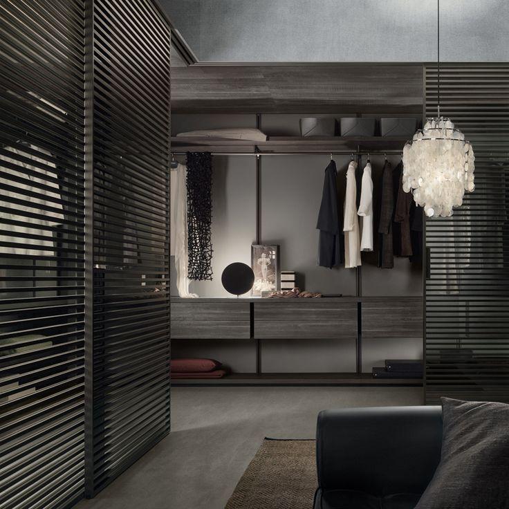 Rimadesio - Dress bold sistema componibile per cabina armadio in vetro e alluminio, guardaroba, zona notte, arredamento casa - walk-in_closet - Rimadesio | ♥