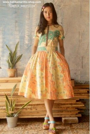 batik amarillis's rive gauche dress