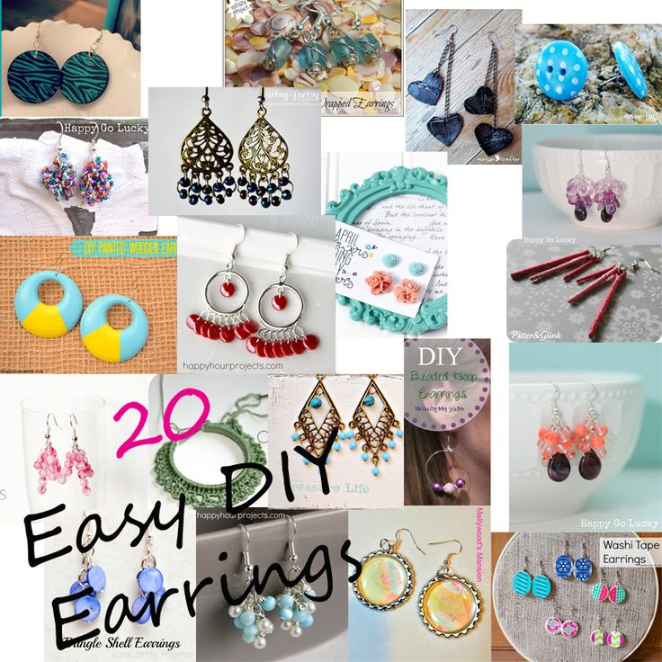 Great blog layout with different designers contributors- pinspiring!!  (like the 'pin' earrings!) 20 Easy DIY #Earrings from it #Happens_in_a_Blink