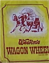 Wagon Wheel waxed bag with only one wagon wheel in it.