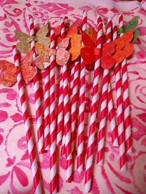 Butterfly Party - Butterfly Straws!