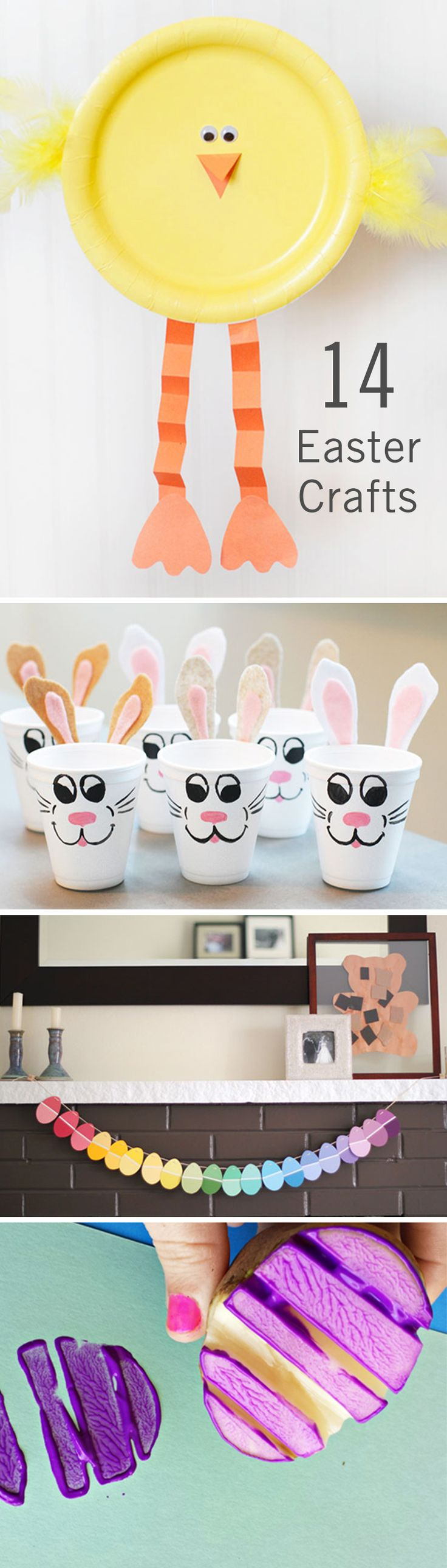 With spring right around the corner, it's time to start planning your Easter crafting schedule! From bunnies to chicks to jelly beans, there's plenty of inspiration to choose from. With just a few supplies from the craft store, you and your toddler can get moving on some colorful DIY decorations to brighten up your home for the Easter holiday. From egg potato stamps to homemade bunny crayons, this list of kids Easter crafts has it all.
