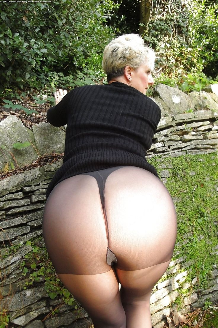 Ass Pantyhose Clad Mature 53