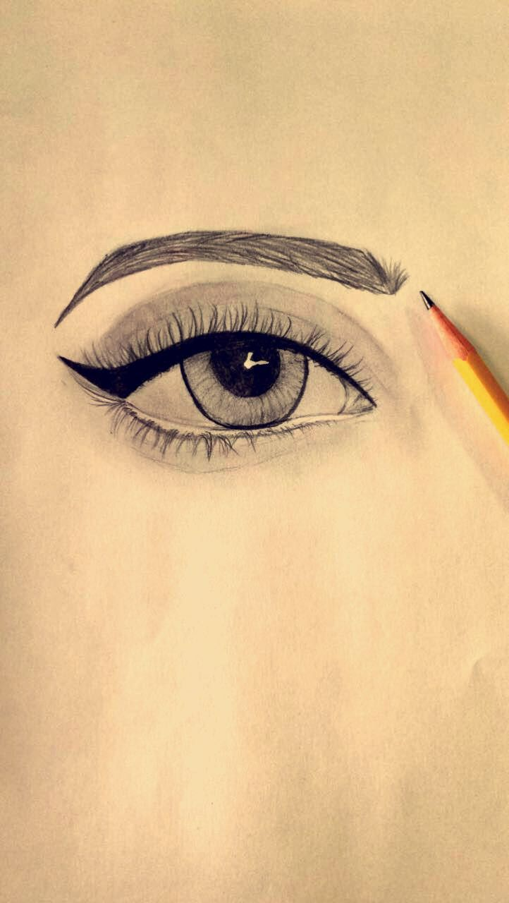 Easy Eye Drawing Tried It Myself And This Is The Result