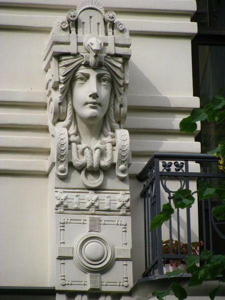 Riga, Latvia - Art Nouveau Architecture