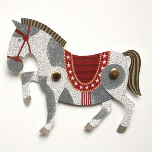 Image of Cut Out and Make Horse Puppet Card