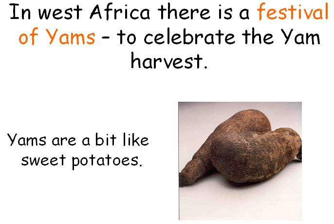 A simple PowerPoint which tells children about the different harvest festivals that are celebrated around the world.