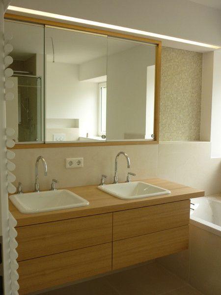 27 besten Beleuchtung im Bad Bilder auf Pinterest Beleuchtung - badezimmerspiegel nach mass
