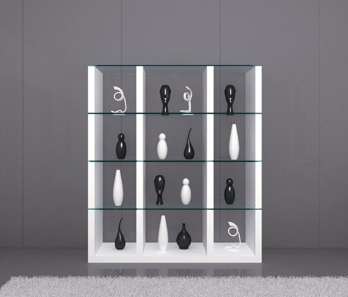J CL Wall unit in white lacquer