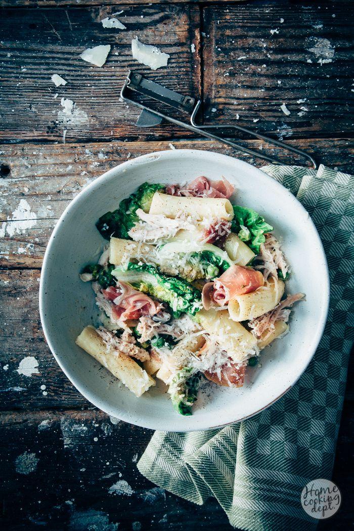 Pasta met kip en roomsaus: pasta risottata, als een risotto gemaakt!