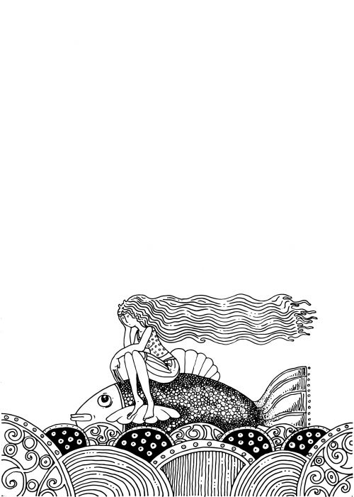 Advanced Ocean Coloring Pages : Best images about advanced fantasy coloring pages on