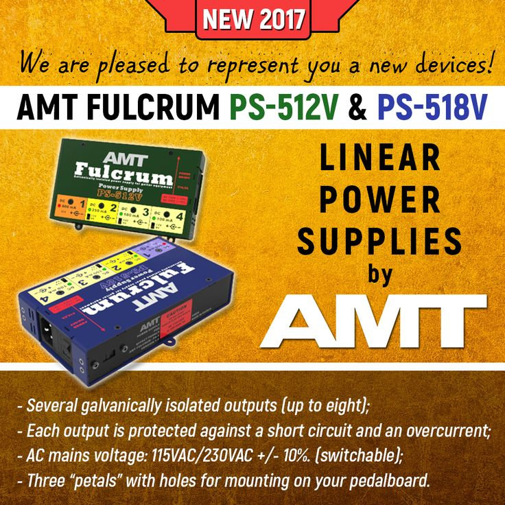 We are pleased to represent you a new devices! AMT Fulcrum PS-XXX are series of linear power supplies with several galvanically isolated outputs (up to eight). Check it now: 1) For European customers - http://amt-sales.com/power/ 2) Rest of the world - http://eshop.amtelectronics.com/power-supplies/ 3) For CIS only - http://shop.amtelectronics.com/power-supplies/