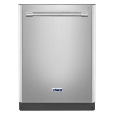 Maytag Top Control Dishwasher in Monochromatic Stainless Steel with Stainless Steel Tub and Steam Cleaning Model # MDB5969SDM Internet # 205311008