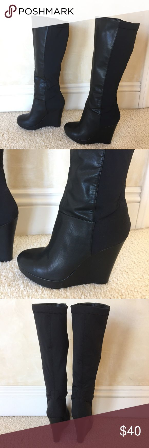 Steve Madden Melori Black Boots Great condition. Steve Madden Shoes Heeled Boots