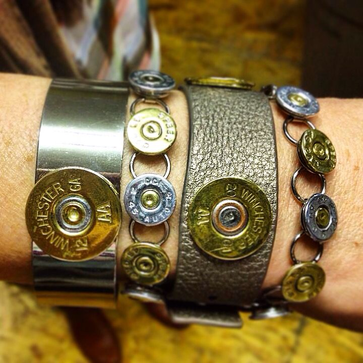 Custom made jewelry from real fired ammunition! The original Spent Rounds Designs is handmade using shotgun shells and .45 caliber casings.  www.spentroundsdesigns.com  Shotgun Shell Jewelry | Bullet Jewelry | Ammo Jewelry