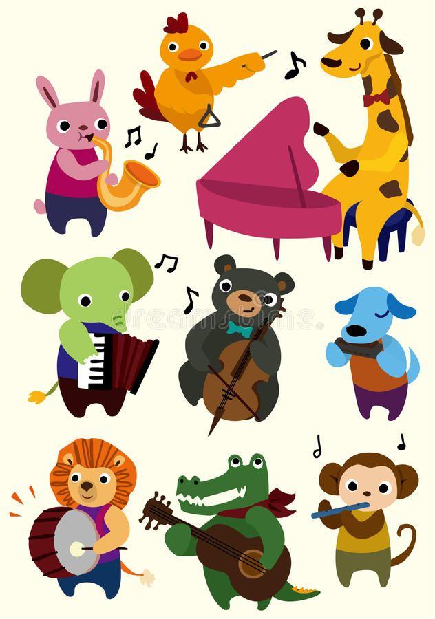 Cartoon Music Animal Icon Vector Illustration Ad Animal Music Cartoon Illustration Vector Ad Animal Icon Music Illustration Cute Animal Drawings