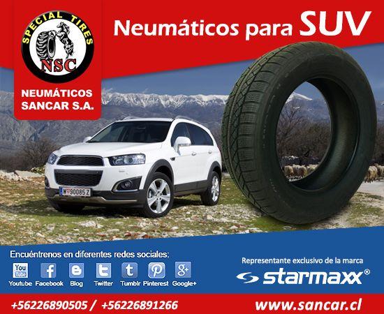 Neumáticos para SUV Encuéntrelos en www.sancar.cl