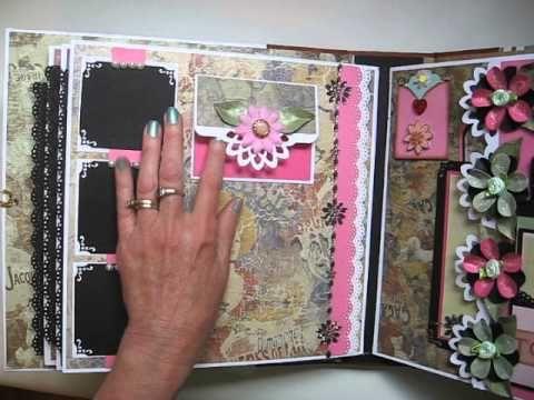 ▶ Handmade Large 11x11 Scrapbook Album (Not Mini) - YouTube