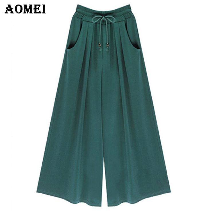 Loose Fit Women Summer High Waist Wide Leg Pants Pockets Green Black Casual Trousers Beachwear  #style #fashionphotography #bestdressed #fashionista #sweet #saboskirt #sunday #photooftheday #fashionstyle #model