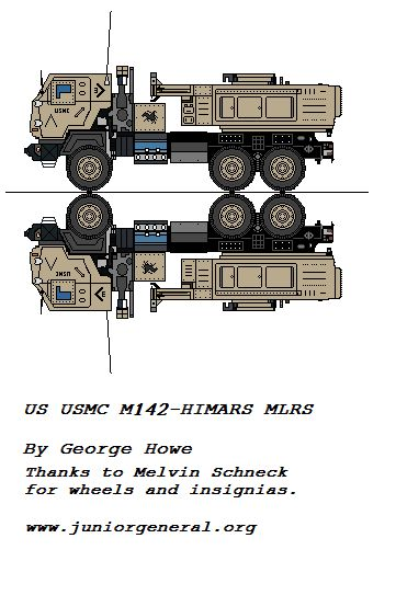 M142 HIMARS MLRS   Marine Corps Paper Models   Paper