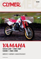 Yamaha Yz125 Yz250 1985 1987 Yz490 1985 1990 Motorcycle Service Repair Manual Yamaha