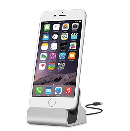 iPhone Charger Dock, TopAce Desk Charger Station with Lightning Connector for Apple iPhone X/8/8 Plus/7 Plus/6s Plus/iPod Nano 7th Gen/iPod Touch 5/6 (Silver) #iPhone #Charger #Dock, #TopAce #Desk #Station #with #Lightning #Connector #Apple #Plus/ #Plus/s #Plus/iPod #Nano #Gen/iPod #Touch #(Silver)
