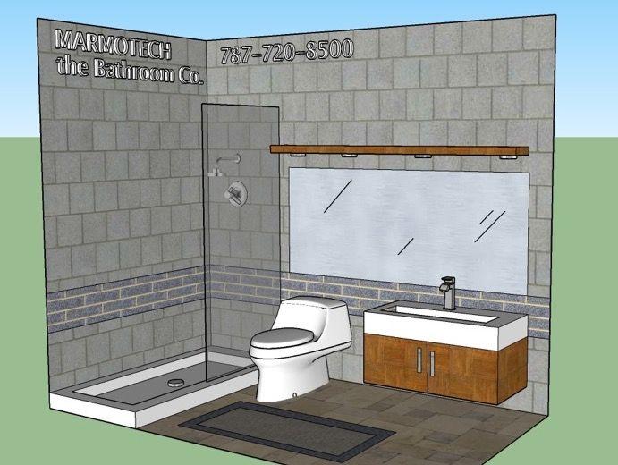 Pin by Baños Marmotech on BATHROOM: 5x9 | Bathroom space ...
