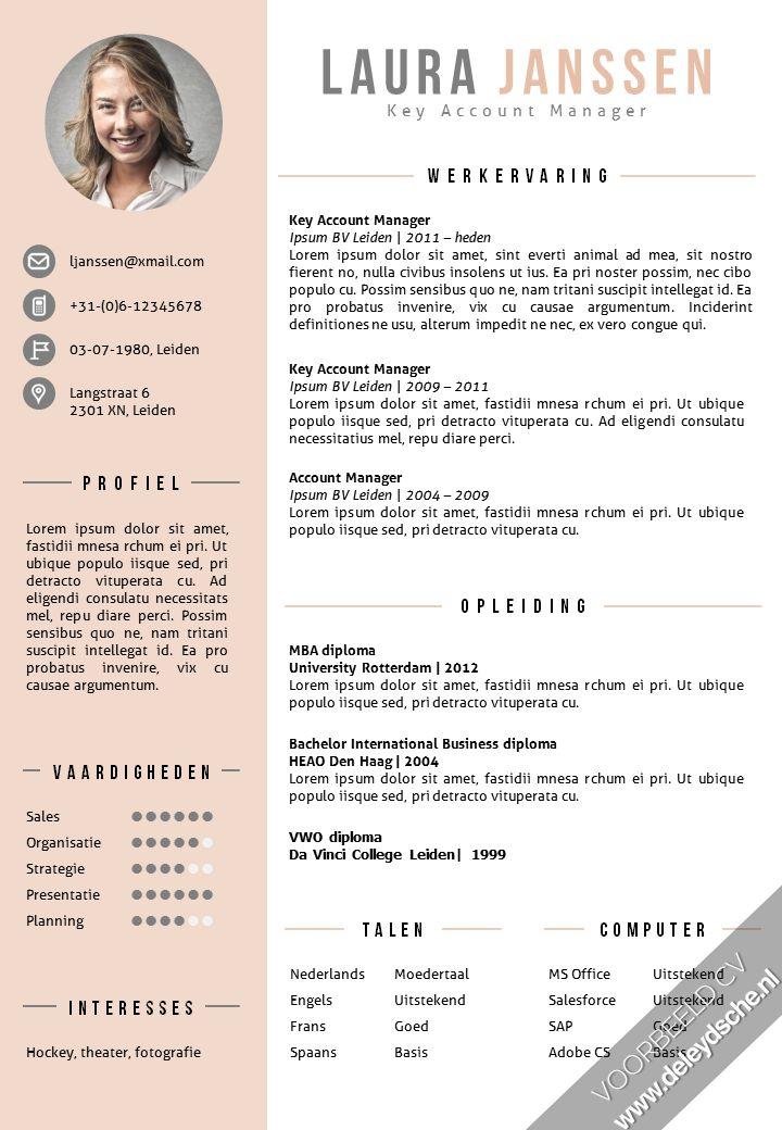 CV sjabloon + sollicitatiebrief sjabloon in Word, volledig zelf te bewerken. 2 kleurenversies in 1 pakket, inclusief cv volgpagina template: http://deleydsche.nl/product/cv-sjabloon-25
