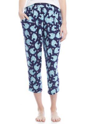 New Directions Elle Harem Elephant Capri Pants