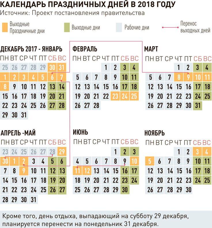 Правительство составило календарь праздников на 2018 год — Российская газета