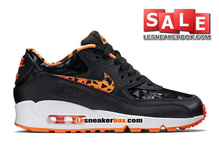 Nike Sportswear Air Max 90 FB (GS) Noir Orange Total Blanc