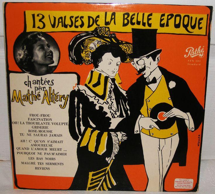 Mathe Altery   Treize Valses De La Bella Epoque Jacques Metehen Pathe LP Record #FranceBelgium