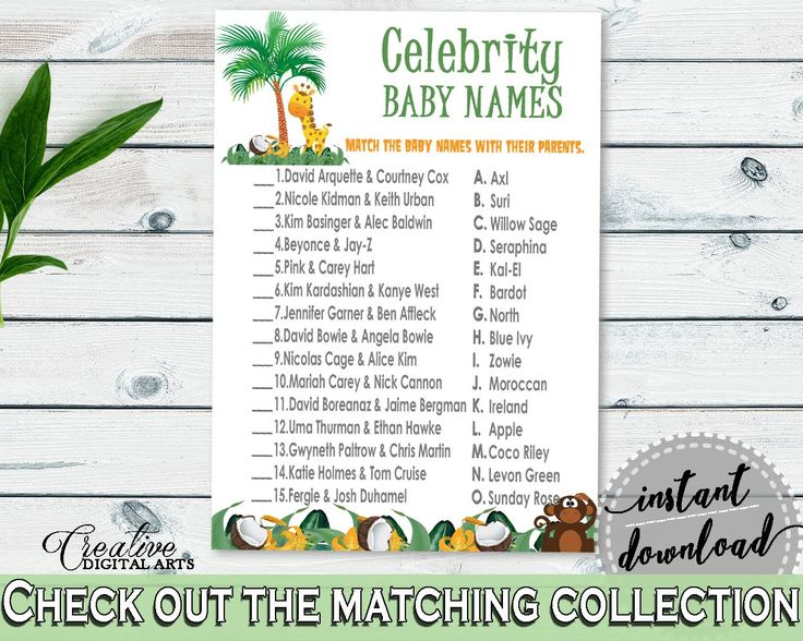 Celebrity Baby Names Baby Shower Celebrity Baby Names Jungle Baby Shower Celebrity Baby Names Baby Shower Jungle Celebrity Baby Names EJRED - Digital Product baby shower baby shower party newborn mommy to be