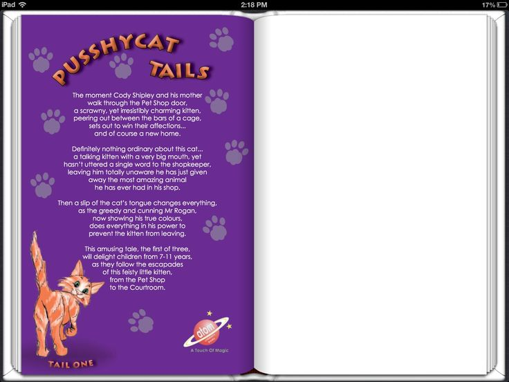 Pusshycat Tails back cover.