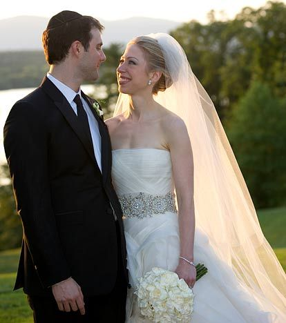 Chelsea Clinton and Marc Mezvinsky The couple of five years wed July 31 in an ultra-private interfaith ceremony at Astor Courts in Rhinebeck, NY.