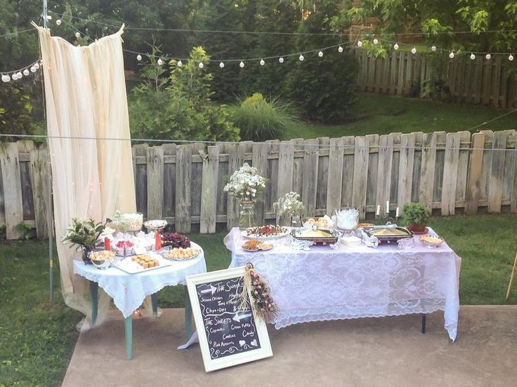 Shabby Chic Outdoor Party Graduation PartiesGraduation CelebrationGraduation DecorationsOutdoor