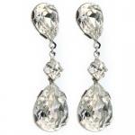 Handmade swarovski crystal earrings, rhodium plated for brides wedding and formals. Redki Jewellery, Jewelry     www.redki.com.au