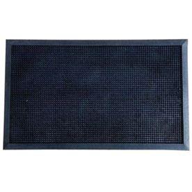 Blue Hawk Black Rectangular Door Mat (Common: 1-1/2-Ft X 2-1/2-Ft; Actual: 36-In X 47.75-In) Wg-Lg-Uty-019