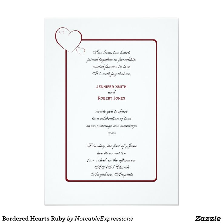 42 best Heart Inspired Wedding Invitations images on Pinterest ...