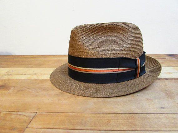 Vintage Dobbs Hat Dobbs FIfth Avenue Straw Hat by FoxLaneVintage, $44.75