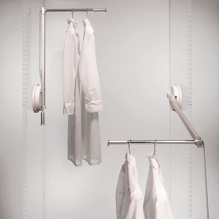Ambos wardrobe lifts, in left or right options, are ideal for single door wardrobes and compartments up to 60cm wide. 12kg load capacity on single arm. Adjustable telescopic tube.