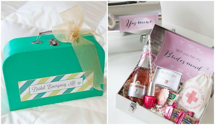 Kits de emergencia para la novia, invitados y damas de honor