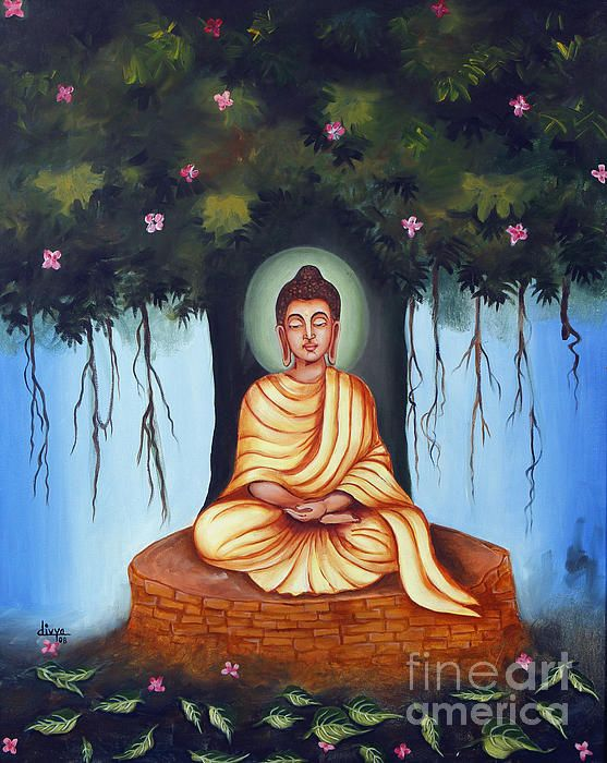 "Title: Mahatma Buddha  Medium: Oil On Canvas  Size: 30"" X 24""  Year: 2008"