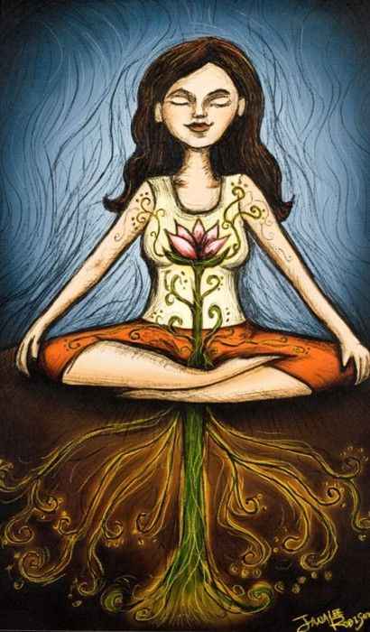 Love this image.     ~Breathe light~  I breathe light through my heart. My heart is a lotus flower and my roots go deep, deep, deep into Mother Earth. I send the light to every cell of my body. We are all One Light ~` ~So Be It! ~Blessed Be~