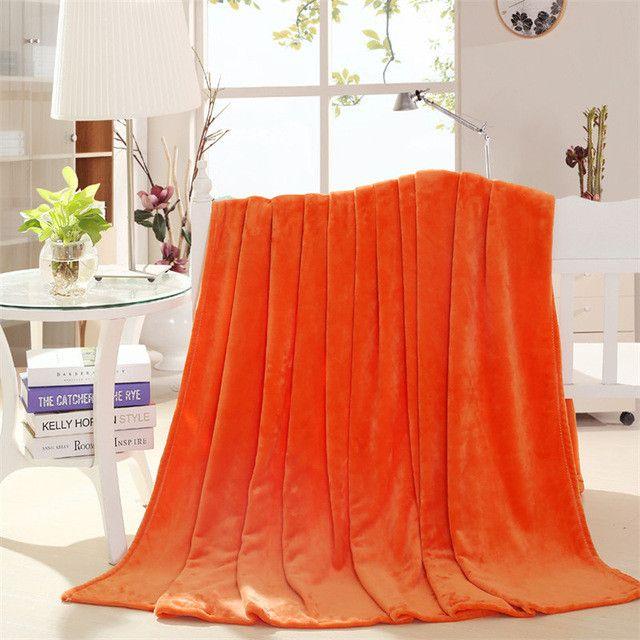 Hot sale 200x230cm Fleece Blanket super warm soft blandets throw winter blanket on Sofa Bed Plane Travel bedspreads sheets