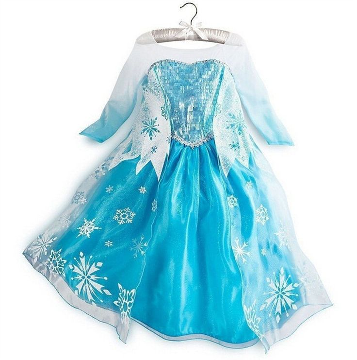 Anna Fever Elsa Costume Carnival Party Princess Dresses Little Girl Clothing