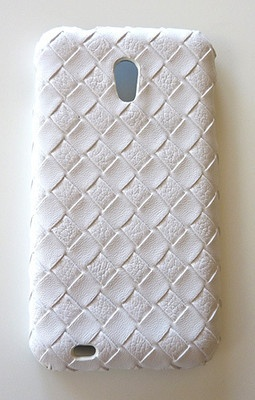 Woven leather phone case