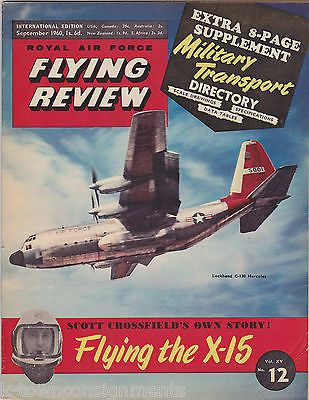 X-15 & REPUBLIC F-84 JET AIRPLANES FLYING REVIEW AVIATION MAGAZINE MAR 1960