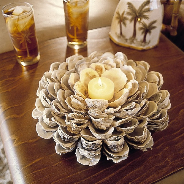 seashell craft ideas candle centerpiece with seashells centerpieces 2892